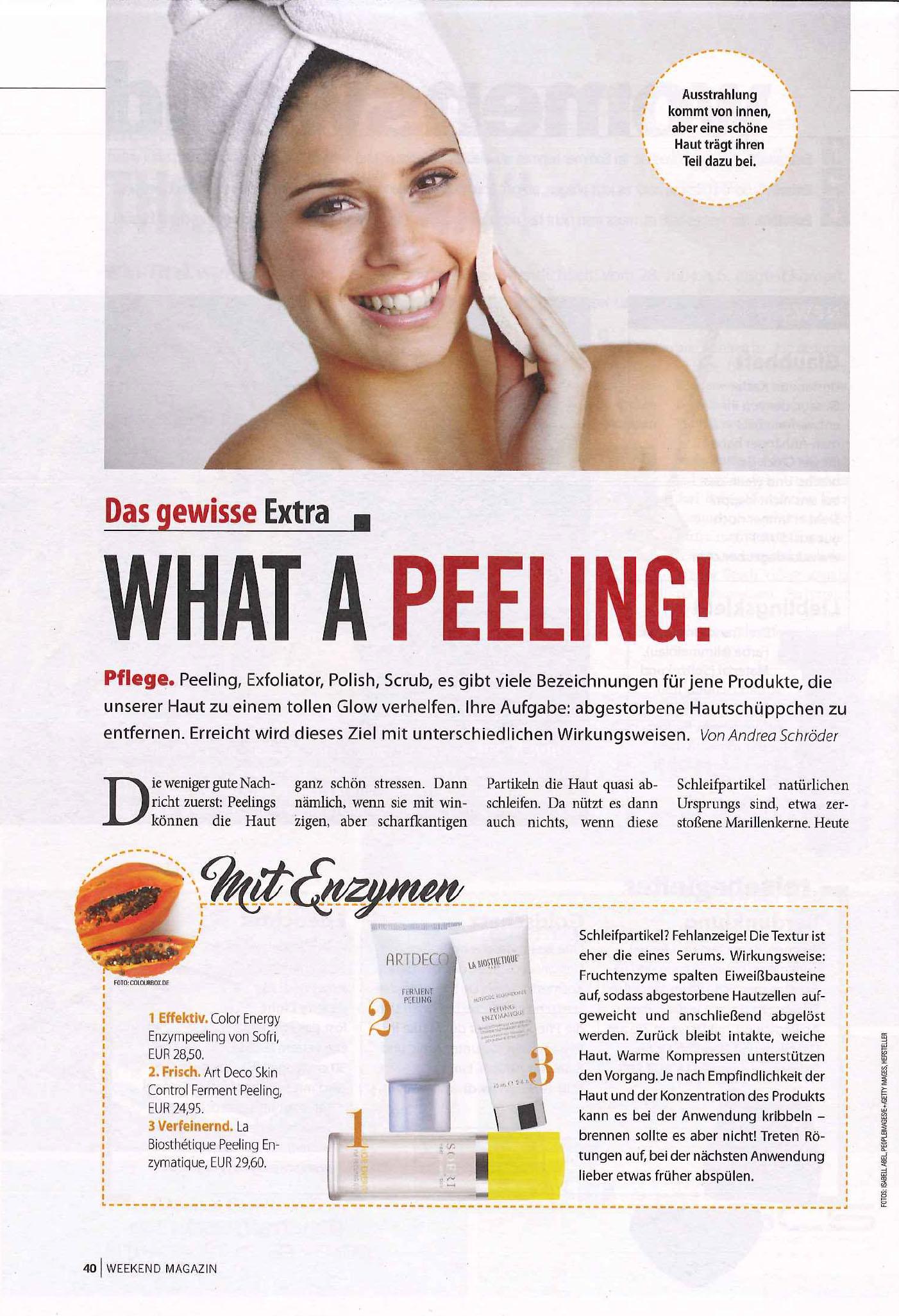Peeling für Reine Haut mit SOFRI