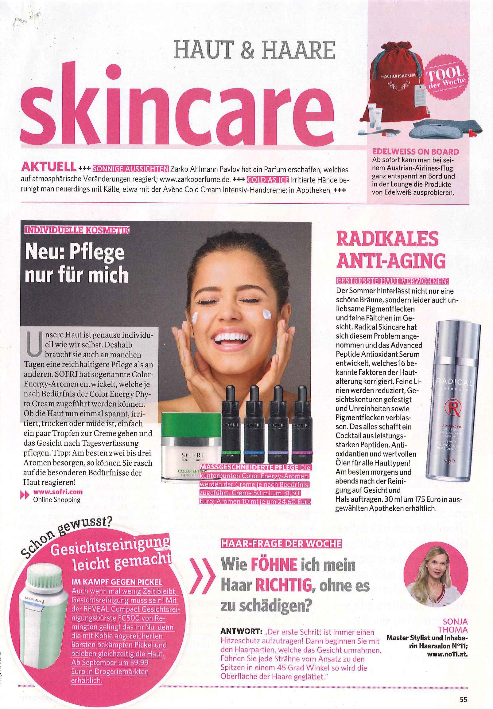 Individuelle Kosmetik von Sofri August 2017