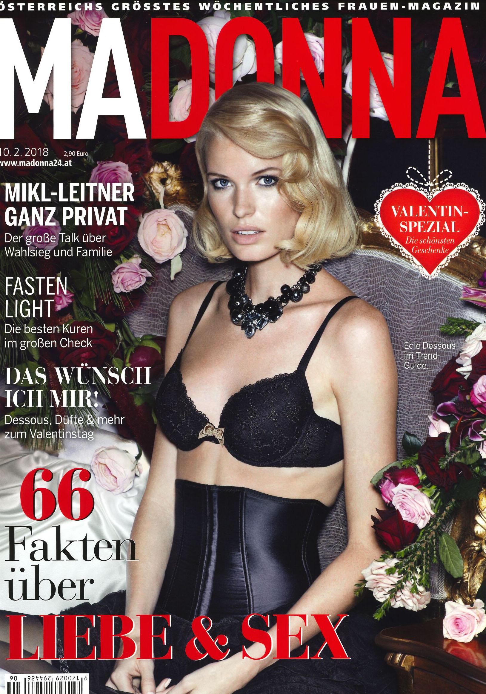 Beauty zum Verlieben,   Madonna im Februar 2018