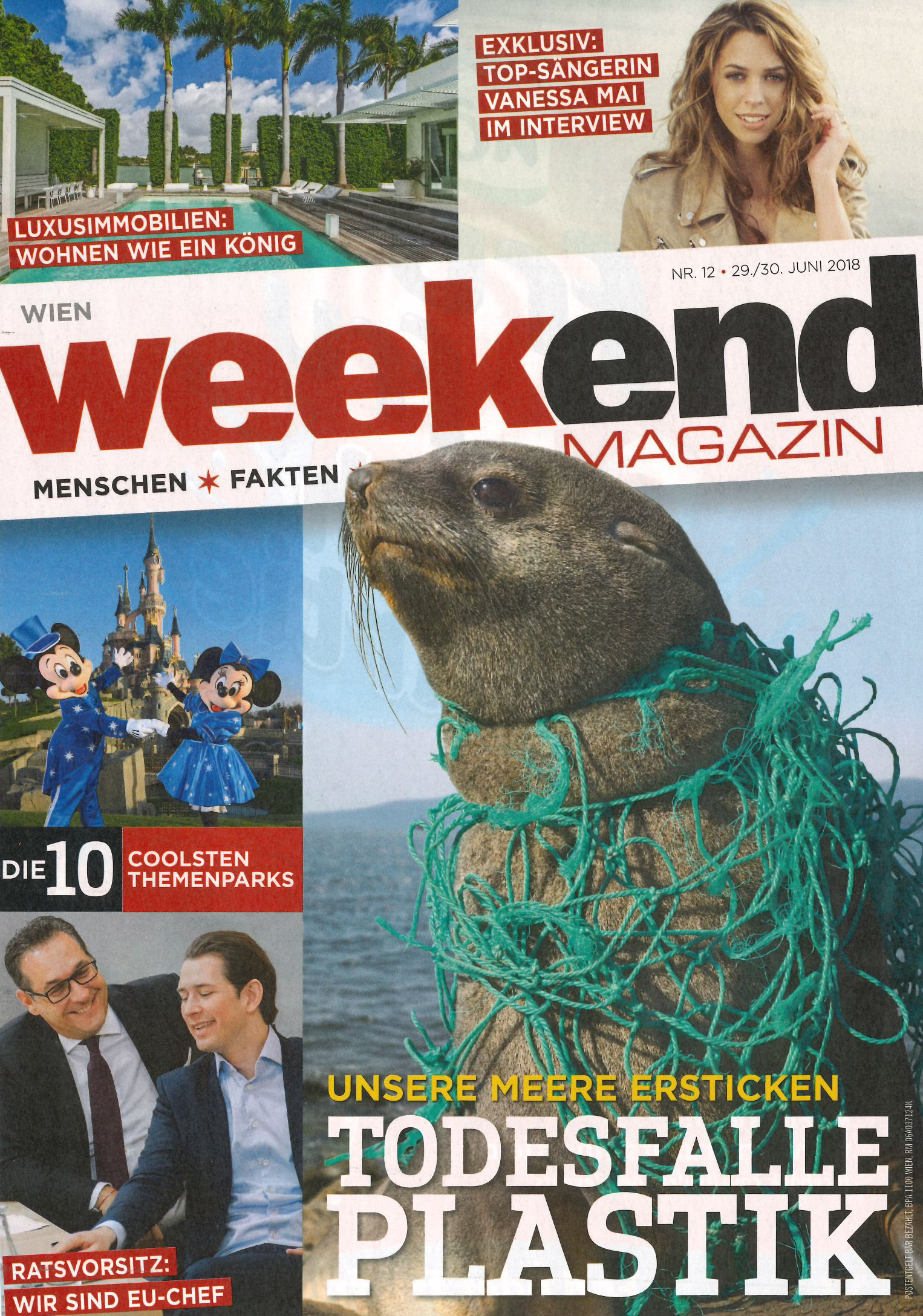 Sommer im Bad,  weekend Magazin im Juni 2018