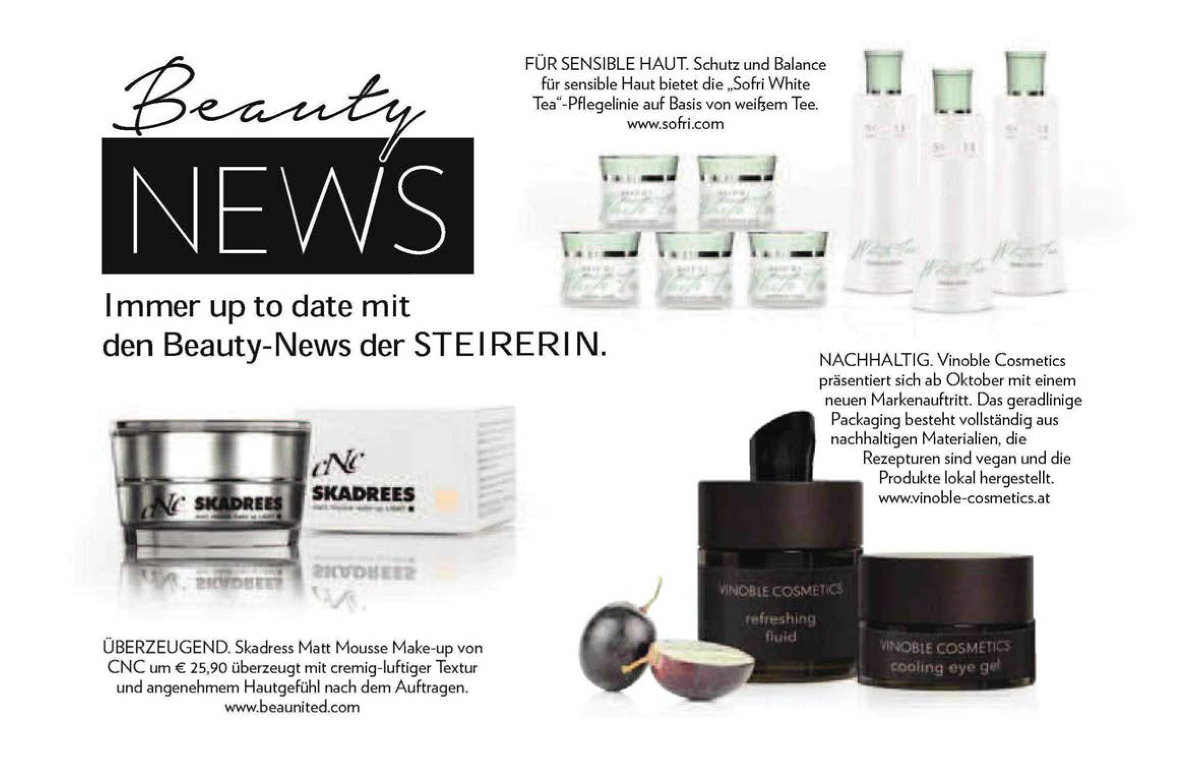 Beauty News, Steirerin im September 2018