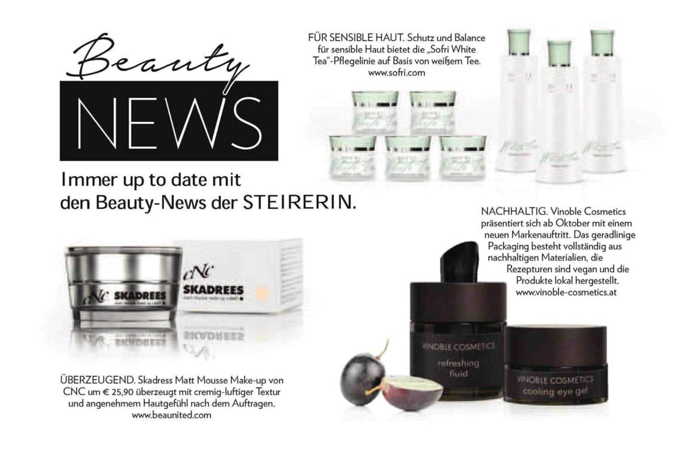 Beauty News, Steirerin im September 2018