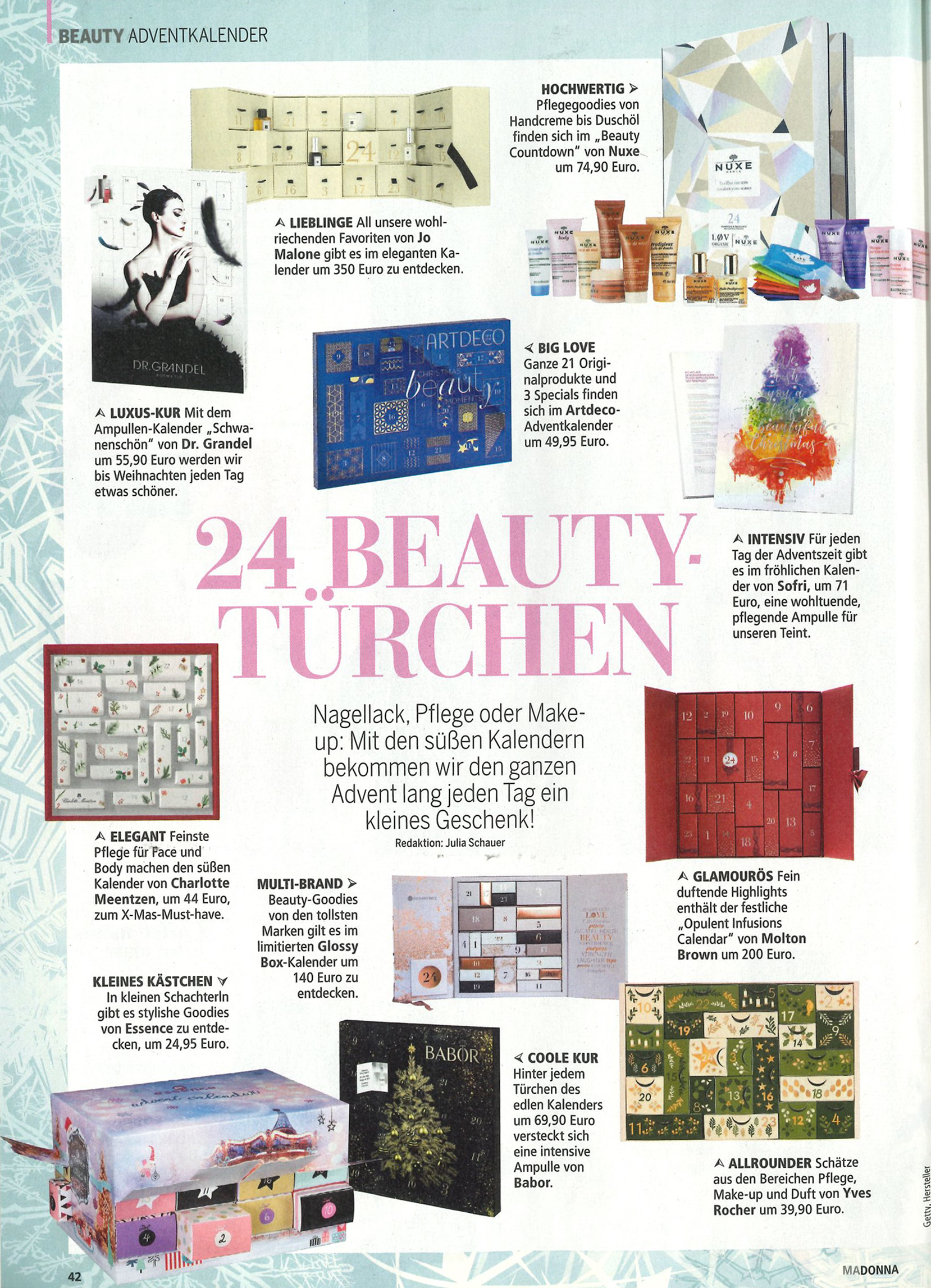 24 Beauty-Türchen, Madonna im November 2018