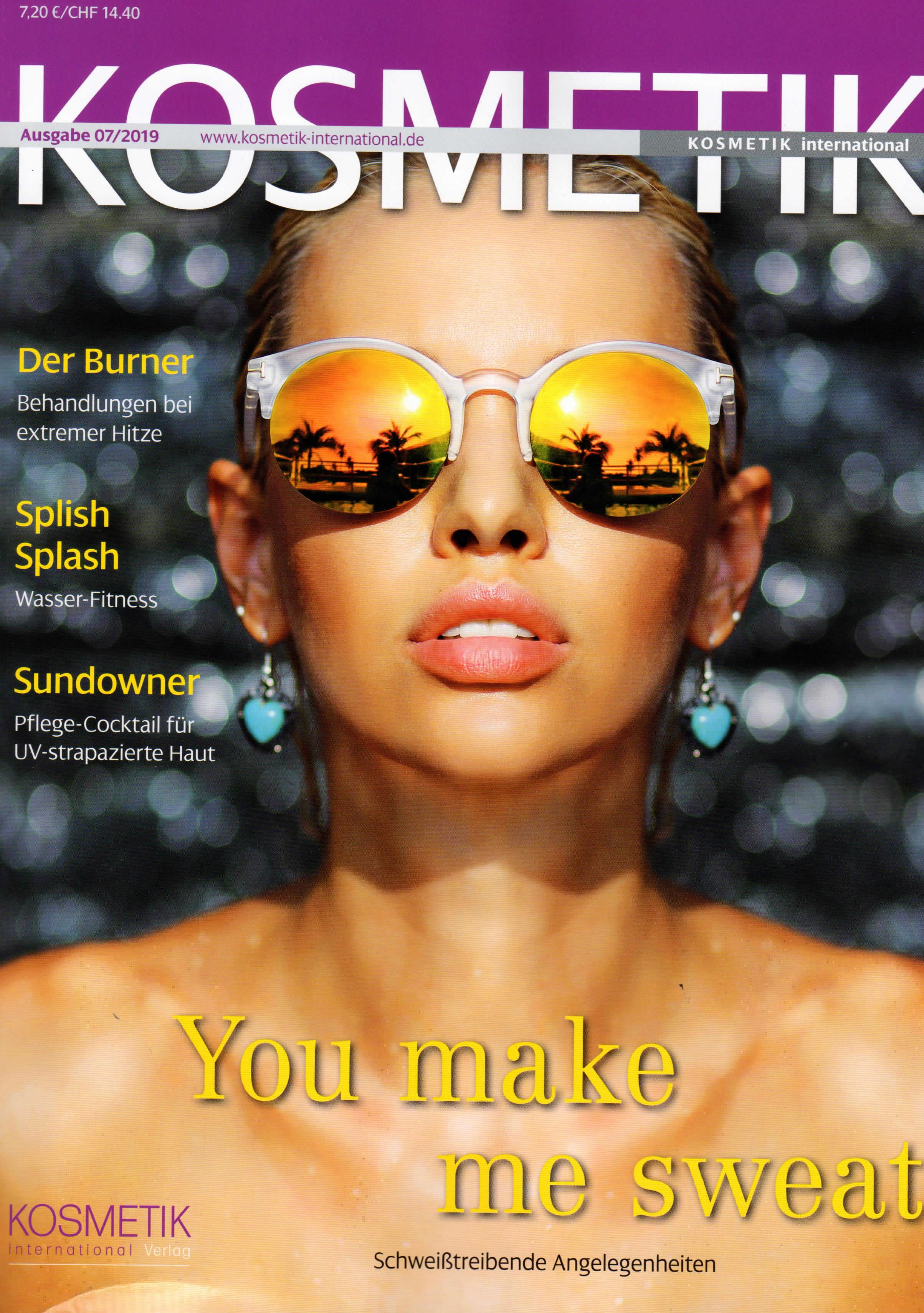 Coole Tasche u. Entspannt aufgelegt, Kosmetik International im Juli 2019