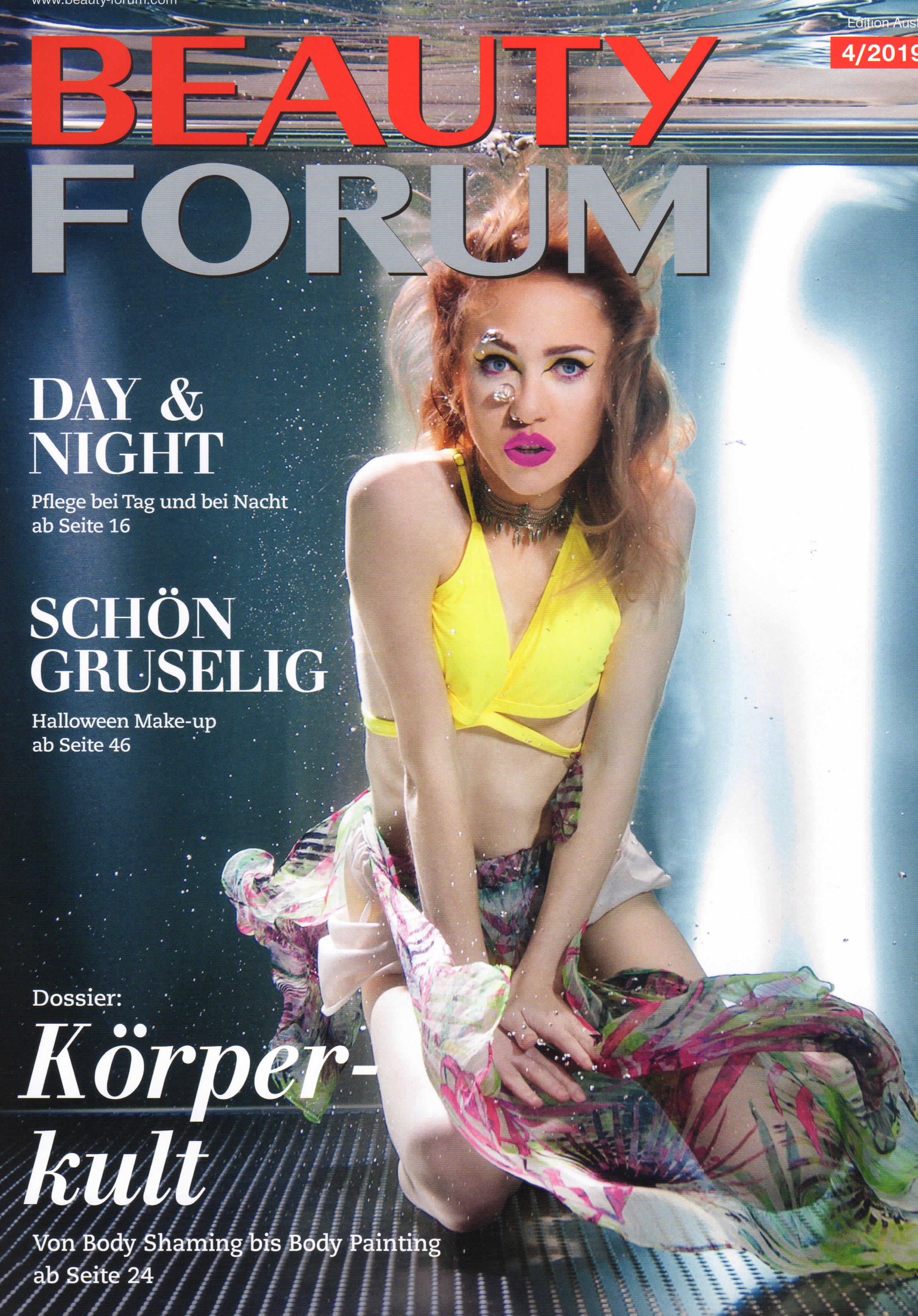 Pflege-Kick, Beauty Forum im April 2019