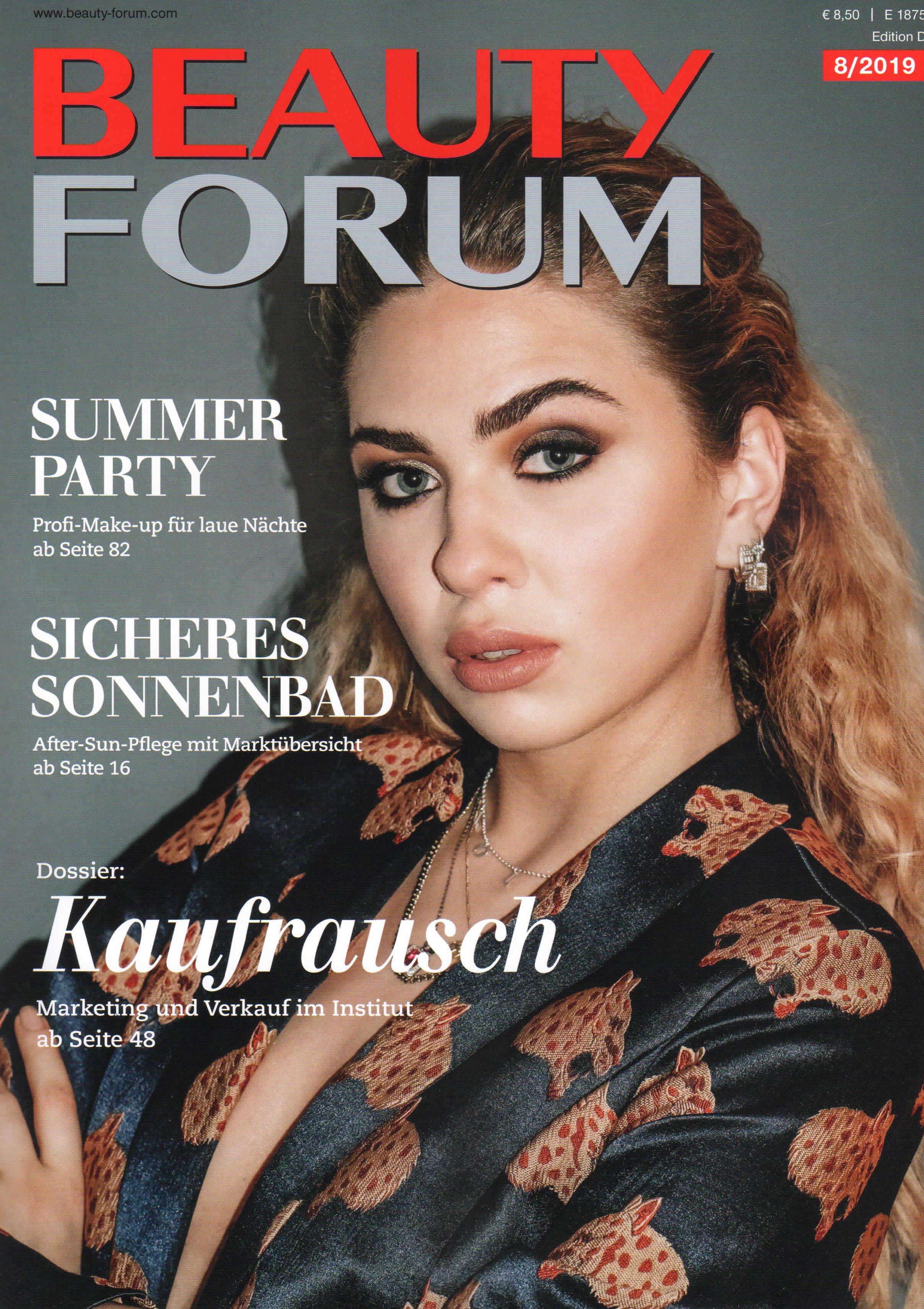 Das Kühle Blaue, Beauty Forum im August 2019