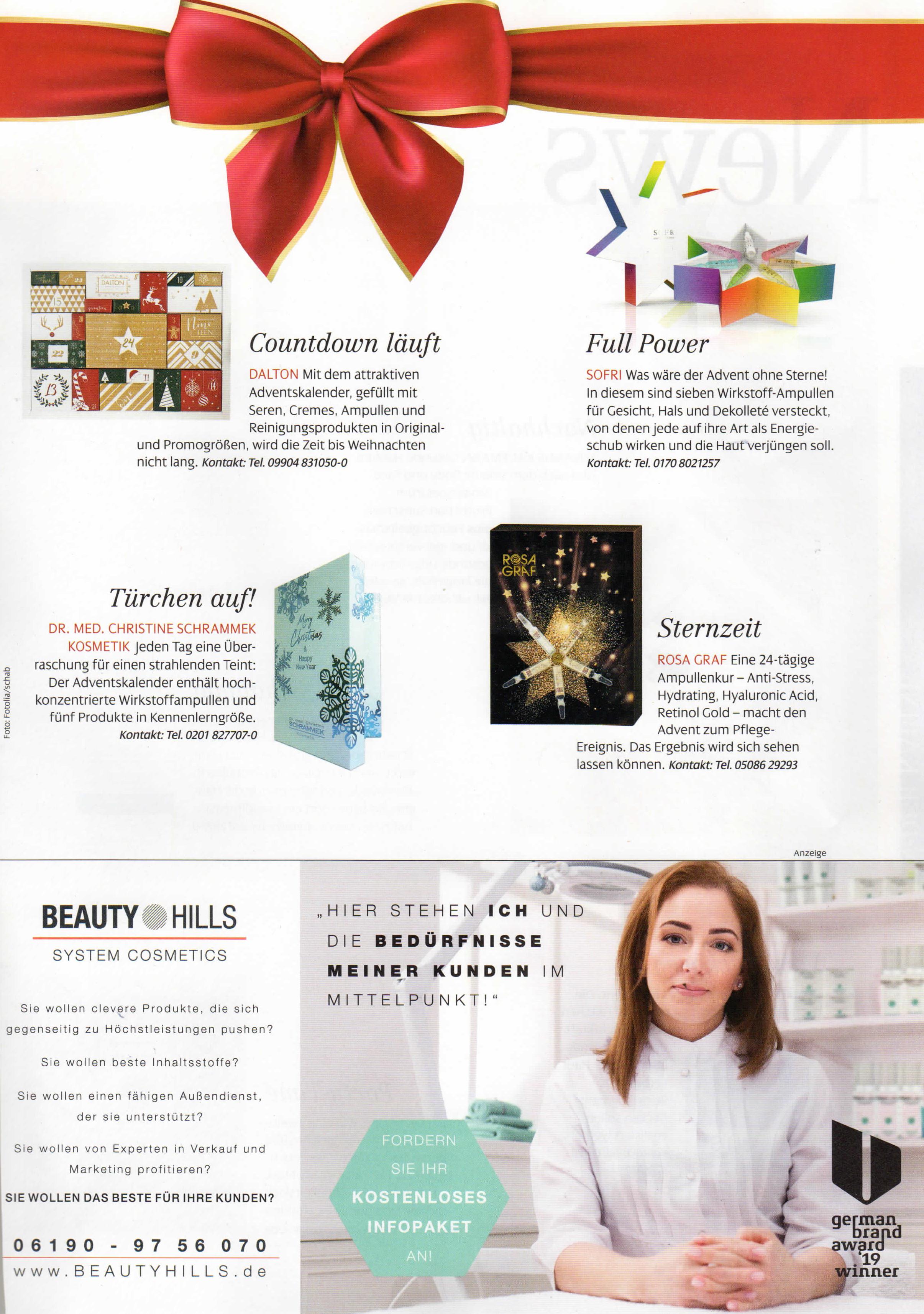 Alle Jahre wieder, Kosmetik International im Oktober 2019