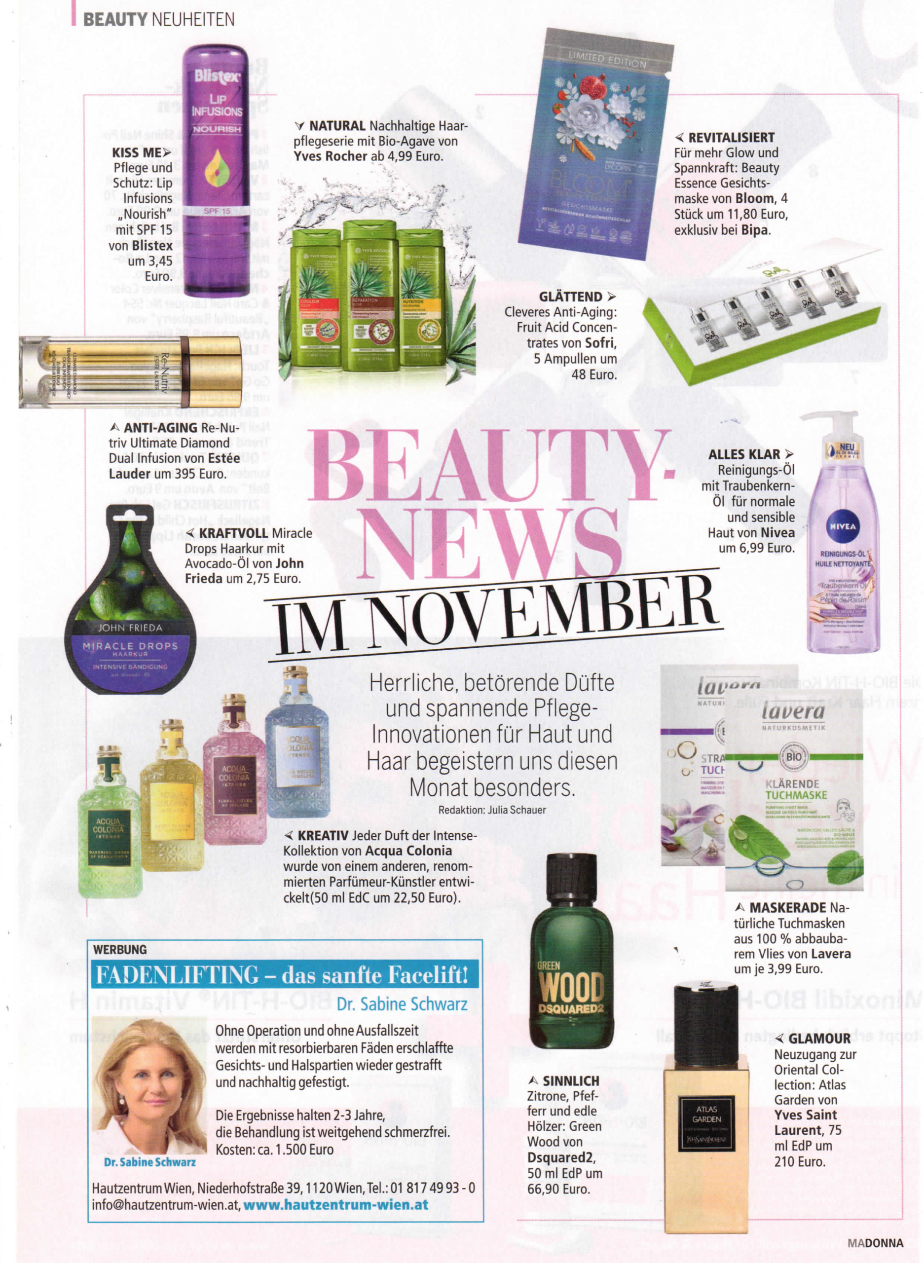 Beauty News im November, Madonna im November 2019