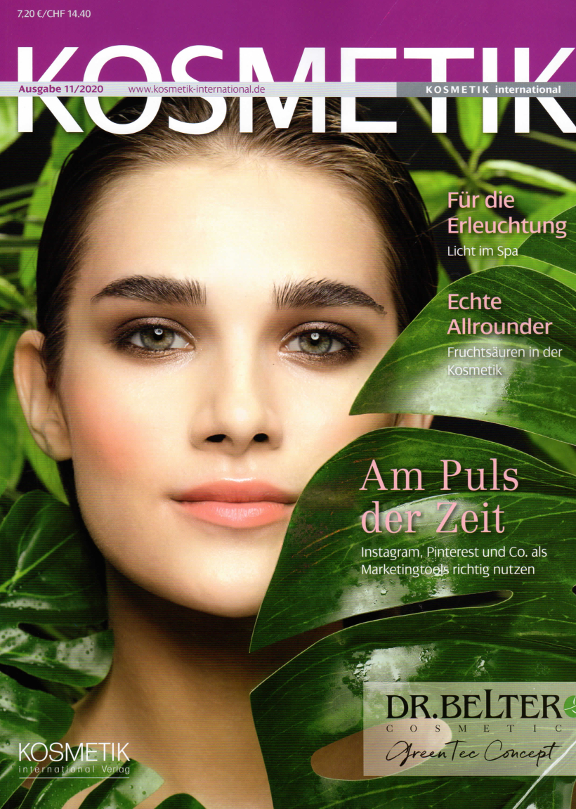In der Kabine, KOSMETIK International im November 2020